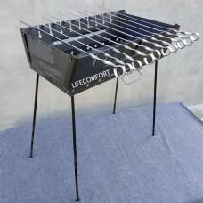 Мангал для шашлыков 2мм 10шампуров