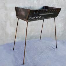 Мангал для шашлыков 2мм 12шампуров