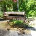 Мангал кованый 3*16 крышка, колеса, станина косичка на колесах на 16 шампуров.