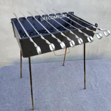 Мангал для шашлыков 3мм 8шампуров