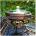 Садж 28см Ковка с чугунной сковородкой с крышкой