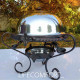 Садж 28см Ковка с крышкой тарелка для подачи шашлыка